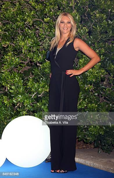 Eleonora Daniele attends the Rai Show Schedule Presentation at Salone Delle Fontane on July 5 2016 in Rome Italy