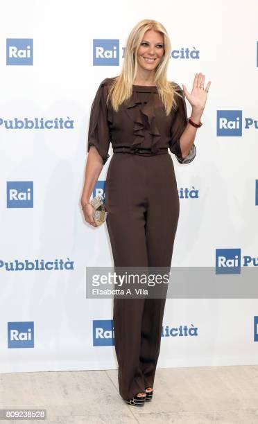 Eleonora Daniele attends the Rai Show Schedule Presentation In Rome on July 4 2017 in Rome Italy
