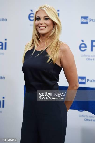 Eleonora Daniele attends the Rai Show Schedule presentation on July 09 2019 in Milan Italy