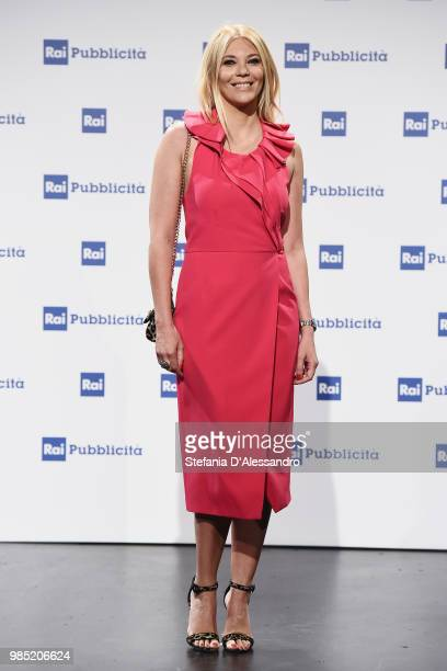 Eleonora Daniele attends the Rai Show Schedule presentation on June 27 2018 in Milan Italy