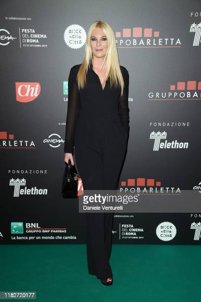 Eleonora Daniele attends the Telethon dinner during the 14th Rome Film Festival on October 22 2019 in Rome Italy
