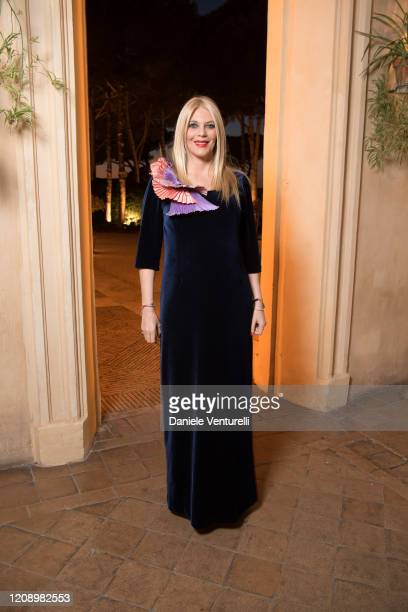 Eleonora Daniele attends the wedding of Earl Vittorio Palazzi Trivelli And Isabelle Adriani on February 22 2020 in Rome Italy