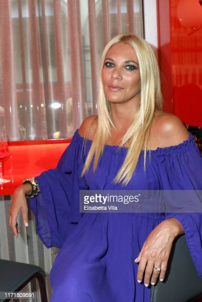Eleonora Daniele is seen at Campari lounge during 76 Venice Film Festival at on September 02 2019 in Venice Italy
