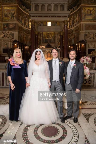 Eleonora Daniele Vittorio Palazzi Trivelli Isabelle Adriani and Luca De Angelis attend the wedding of Earl Vittorio Palazzi Trivelli And Isabelle...