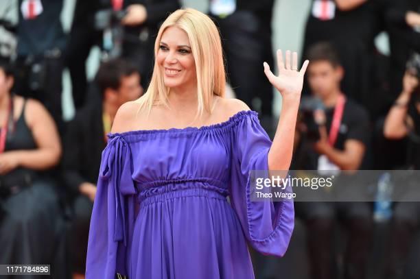 Eleonora Daniele walks the red carpet ahead of the Martin Eden screening during the 76th Venice Film Festival at Sala Grande on September 02 2019 in...
