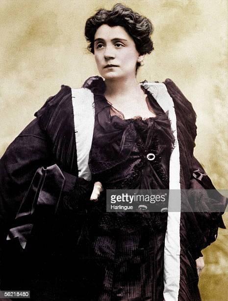 Eleonora Duse Italian actress Colourized photo