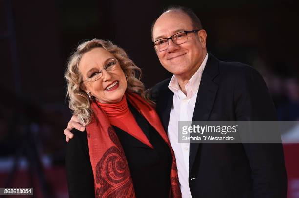 Eleonora Giorgi and Carlo Verdone walk a red carpet for 'Borotalco' during the 12th Rome Film Fest at Auditorium Parco Della Musica on October 31,...