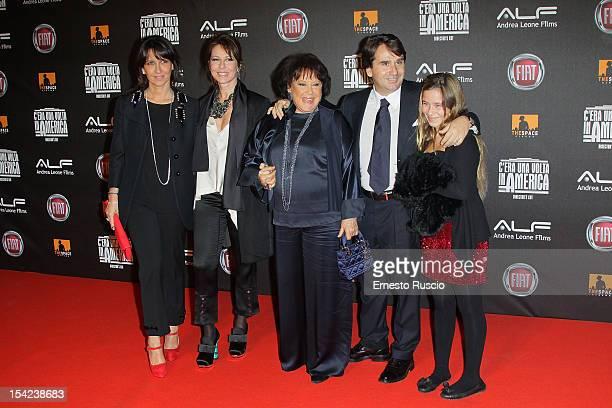 Eleonora Leone guest Carla Leone Andrea Leone and Cicca Leone attend the 'C'era Una Volta In America Director's Cut' premiere at Space Moderno on...