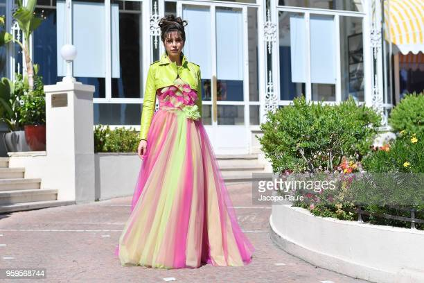 Eleonora Pieroni is seen during the 71st annual Cannes Film Festival at on May 17 2018 in Cannes France