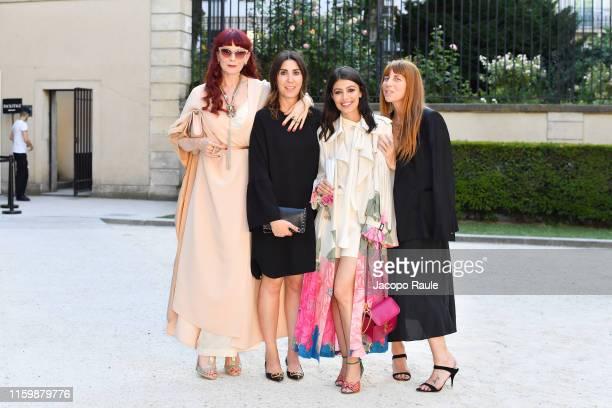 Eleonora Pratelli, Alessandra Mastronardi and Vanessa Bozzacchi attend the Valentino Haute Couture Fall/Winter 2019 2020 show as part of Paris...