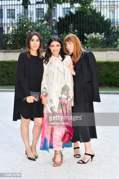 Eleonora Pratelli Alessandra Mastronardi and Vanessa Bozzacchi attend the Valentino Haute Couture Fall/Winter 2019 2020 show as part of Paris Fashion...