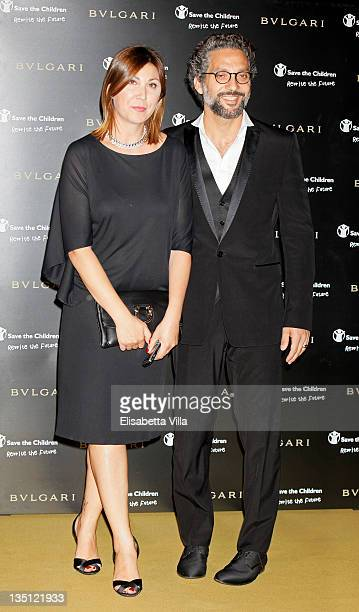 Eleonora Pratelli and Beppe Fiorello attend the BULGARI 'Between Eternity And History' Dinner Red Carpet at Castel Sant'Angelo on May 20 2009 in Rome...