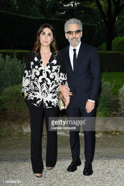 Eleonora Pratelli and Beppe Fiorello attend the McKim Medal Gala 2019 at Villa Aurelia on June 05 2019 in Rome Italy