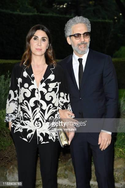 Eleonora Pratelli and Beppe Fiorello attend the McKim Medal Gala 2019 at Villa Aurelia on June 05, 2019 in Rome, Italy.