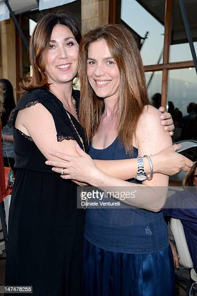 Eleonora Pratelli and Susanna Biondo attend the 2012 Nastri d'Argento Awards cocktail party hosted by Bulgari on June 30 2012 in Taormina Italy