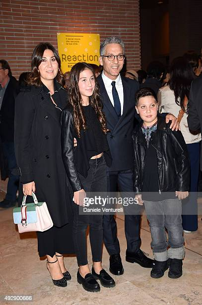 Eleonora Pratelli Anita Fiorello Beppe Fiorello and Nicola Fiorello attend a photocall for 'Era D'Estate' during the 10th Rome Film Fest at...