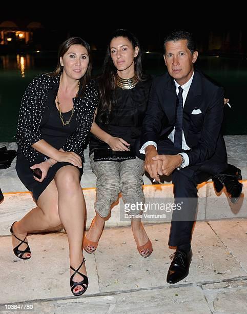 Eleonora Pratelli, Francesca Leoni and Stefano Tonchi, Editor-in-Chief of W magazine attend the Bulgari And W Magazine Celebrate The 67th Venice Film...