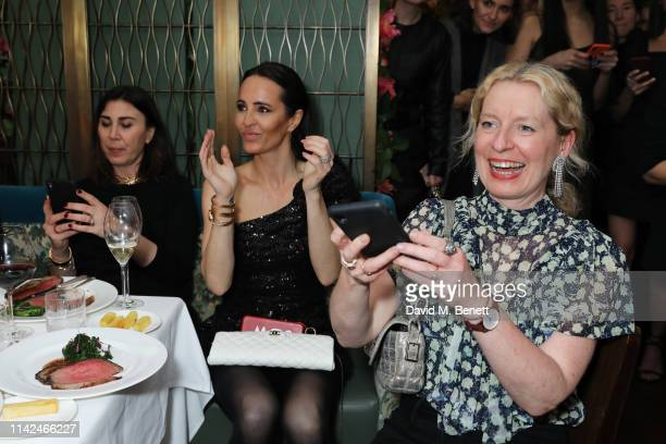 Eleonora Pratelli Julie Brangstrup and Sarah Bailey attend a private dinner hosted by Michael Kors to celebrate the new Collection Bond St Flagship...