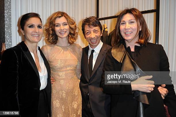 Eleonora Pratelli, Pier Paolo Piccioli, Vittoria Puccini and Maria Grazia Chiuri attend the Valentino Flagship Store Opening during Milan Womenswear...