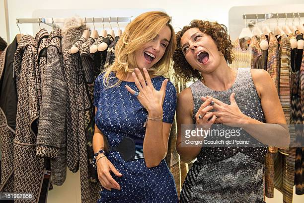Eleonora Sergio and Lidia Vitale pose during Rome Vogue Fashion's Night Out at Missoni shop on September 13 2012 in Rome Italy