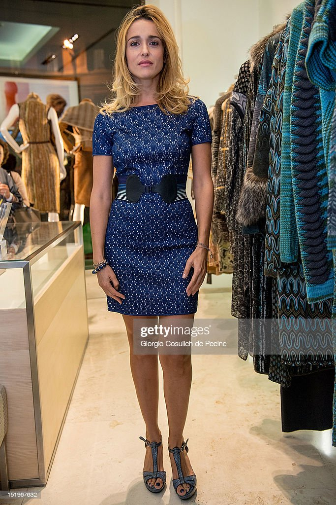 Eleonora Sergio poses during Rome Vogue Fashion's Night Out at Missoni shop on September 13, 2012 in Rome, Italy.
