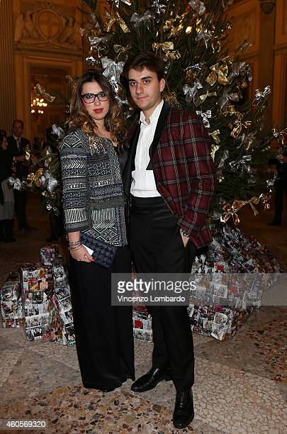 Eleonora Viganò and Luca Micheletto attend the Fondazione IEO CCM Christmas Dinner For on December 16 2014 in Monza Italy