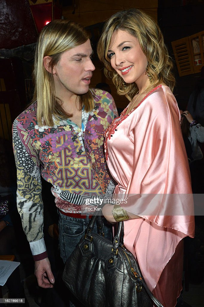 Eleonore Boccara (R) and Christophe Guillarme attend the Christophe Guillarme Fall/Winter 2013 Ready-to-Wear show as part of Paris Fashion Week on February 26, 2013 in Paris, France.