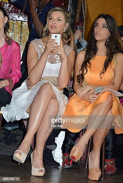 Eleonore Boccara and Ludivine Sagna attend the Christophe Guillarme show as part of the Paris Fashion Week Womenswear Fall/Winter 2015/2016 on March...