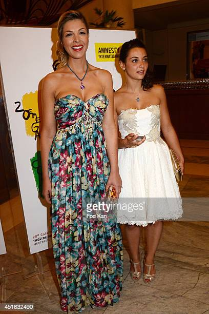 Eleonore Boccara and Priscilla Betti attend the '20th Amnesty International France' Gala At Theatre Des champs Elysees on July 2 2014 in Paris France