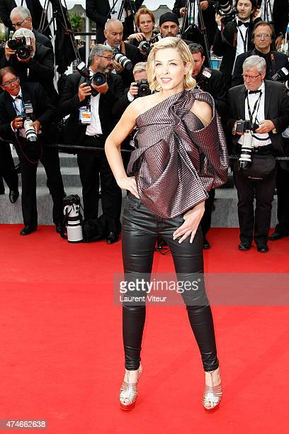 Eleonore Boccara attends the closing ceremony and 'Le Glace Et Le Ciel' premiere during the 68th annual Cannes Film Festival on May 24 2015 in Cannes...