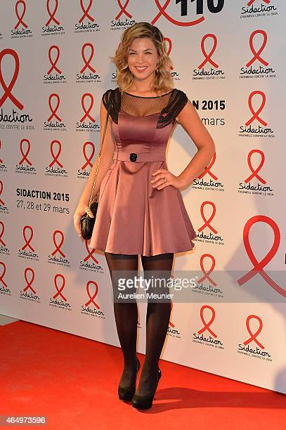 Eleonore Boccara attends the Sidaction 2015 at Musee du Quai Branly on March 2 2015 in Paris France