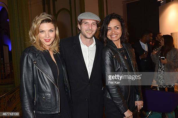 Eleonore Boccara Gregory Ferrie and Laurence Roustandjee attend the 'Diamond Night by Divinescence Vendome' Harumi Klossowska Jewellery Exhibition...