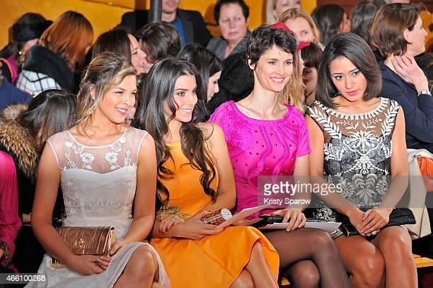 Eleonore Boccara Ludivine Sagna Eglantine Emeye and Josephine Jobert attend the Christophe Guillarme show as part of Paris Fashion Week Womenswear...