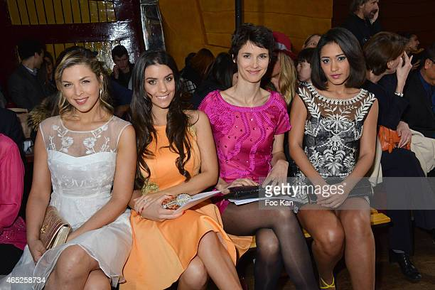 Eleonore Boccara Ludivine Sagna Josephine Jobert and Eglantine Emeye attend the Christophe Guillarme show as part of the Paris Fashion Week...