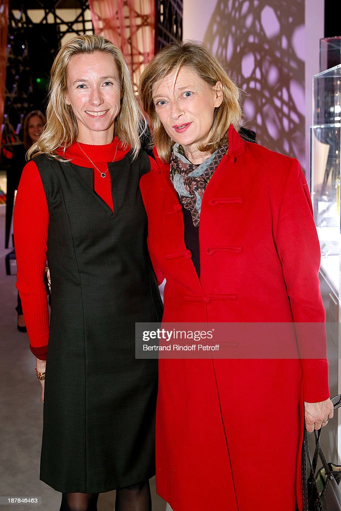 Eleonore de Boisson and Miss Michel Barnier attend the 'Esprit Dior, Miss Dior' Exhibition Opening Cocktail event on November 12, 2013 in Paris, France.
