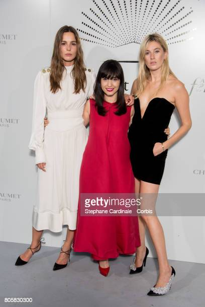 Eleonore Toulin Samar Seraqui de Buttafoco and Camille Charriere attend the 'Chaumet Est Une Fete' Haute Joaillerie Collection Launch as part of...