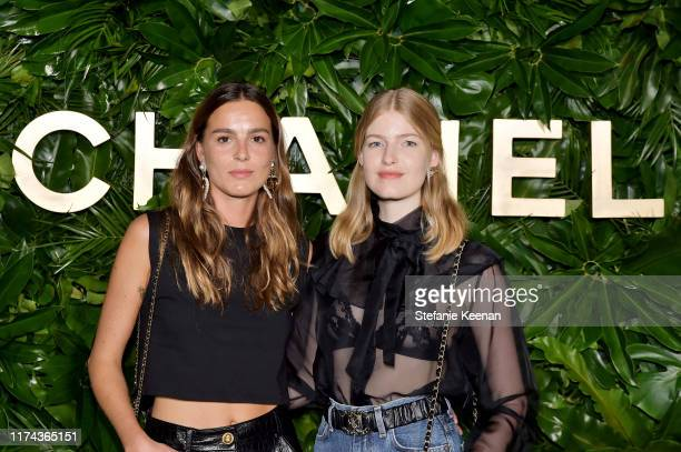 Eleonore Toulinwearing CHANEL and Loise Parker attend Chanel Dinner Celebrating Gabrielle Chanel Essence With Margot Robbie on September 12 2019 in...