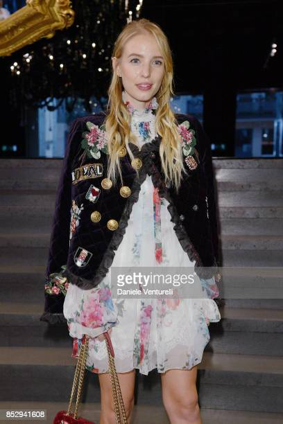 Eleonore Von Habsburg attends the Dolce Gabbana show during Milan Fashion Week Spring/Summer 2018 on September 24 2017 in Milan Italy