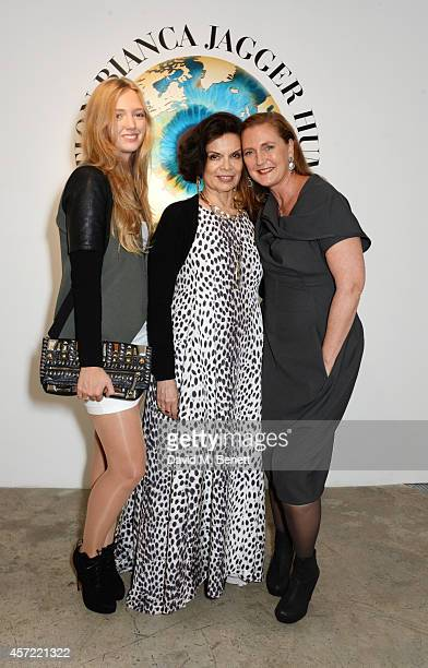 Eleonore von Habsburg Bianca Jagger and Francesca von Habsburg attend the Bianca Jagger Human Rights Foundation Arts for Human Rights benefit gala...