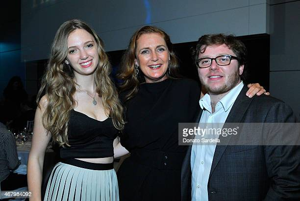 Eleonore von Habsburg Francesca von Habsburg and JB Hakim attend The Mistake Room 2015 Biennial Gala at CAA on March 28 2015 in Los Angeles California