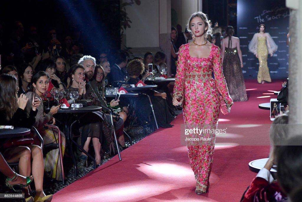 Dolce & Gabbana Secret Show At Bar Martini - Runway - Milan Fashion Week SS 2018 : News Photo