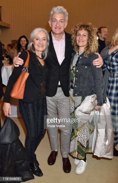 "Eleonore Weisgerber, Dominic Raacke, Alessija Lause during the ""Skylight' theater premiere at Schiller Theater on December 1, 2019 in Berlin, Germany."