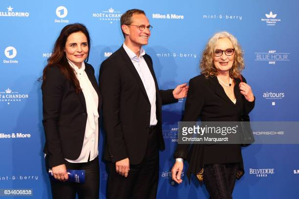 Eleonore Weisgerber Michael Mueller Berlins Mayor and Jutta Speidel attend the Blue Hour Reception hosted by ARD during the 67th Berlinale...