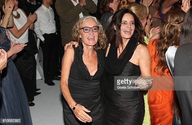 Eleonore Weissgerber and Elisabeth Lanz dance during the 70th anniversary of Arthur Brauner's CCC Film Studios on September 23 2016 in Berlin Germany