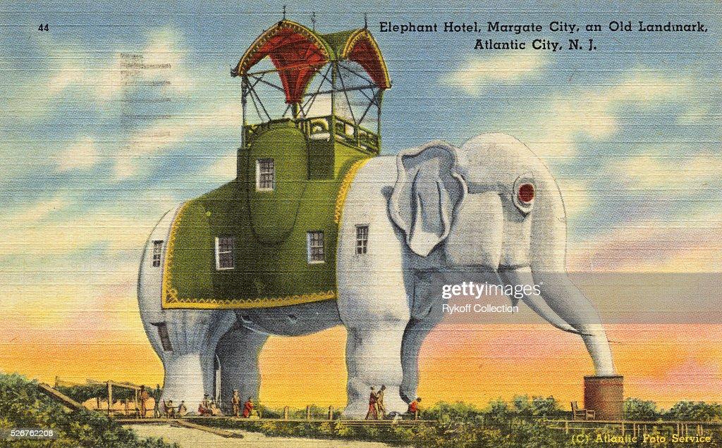 Elephant Hotel Margate City And Old Landmark Atlantic Nj