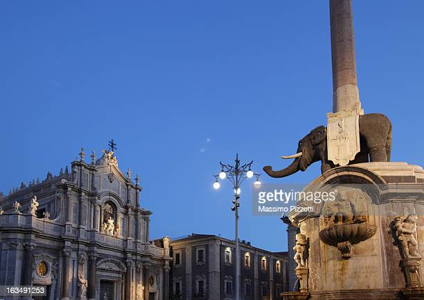 Elephant obelisk and Cathedral in Catania