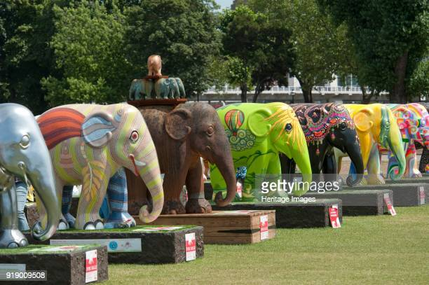 Elephant Parade Royal Hospital Chelsea London 2010 The Elephant Parade was an open air art exhibition of decorated elephant statues Contributed by...