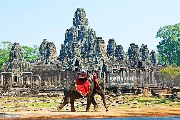 Elephant ride at the Bayon, Angkor Wat