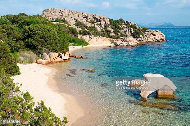 elephant rock beach on costa smeralda in sardinia, italy - sardinia stock pictures, royalty-free photos & images