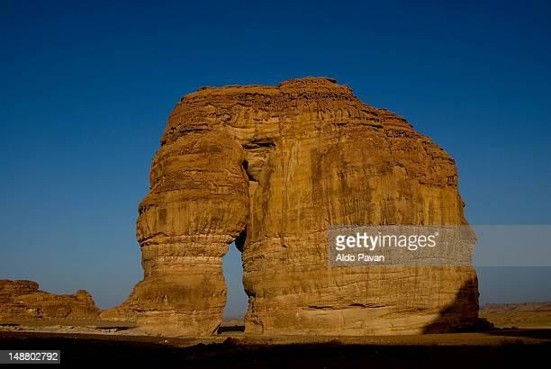 Elephant Rock in desert near Al Ula oasis.